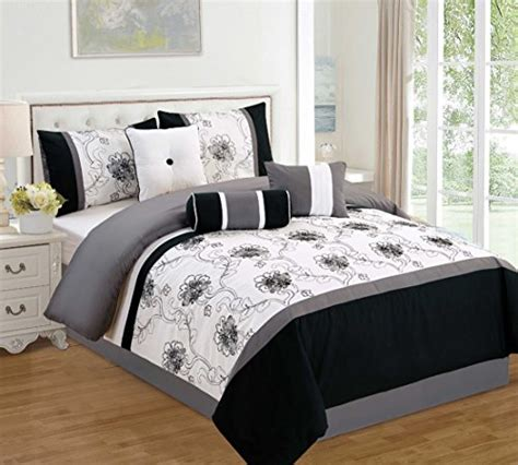 black and white floral bedding sets