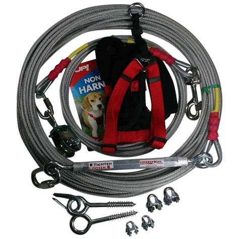 aerial run freedom aerial run with harness standard duty fadr 100sd m ch freedom pet supply