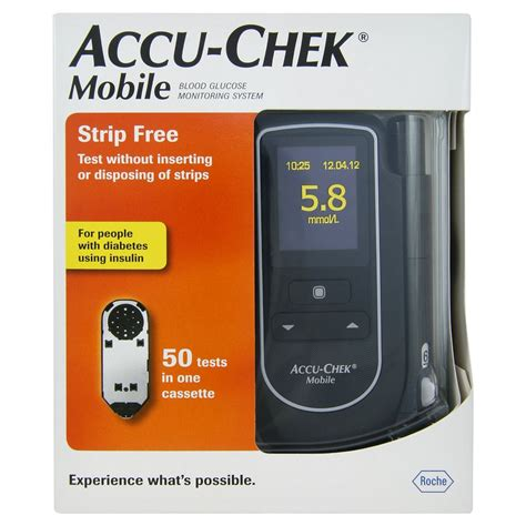 Accu Mobil Freed accu chek mobile blood glucose diabetes monitoring system