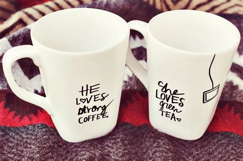 Small Kitchen Ideas Pinterest his her sharpie mug diy a beautiful mess