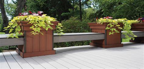 deck bench planter bench amp planter hardware kits azek deck planter box bench planter box bench