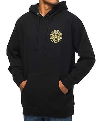Obey Black Gold White graphic sweatshirts hoodies