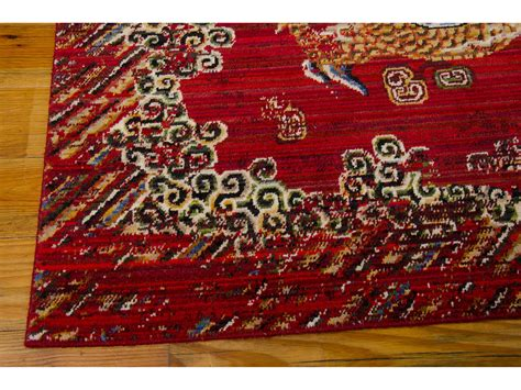 nourison bbl16 dynasty rectangular oxblood area rug