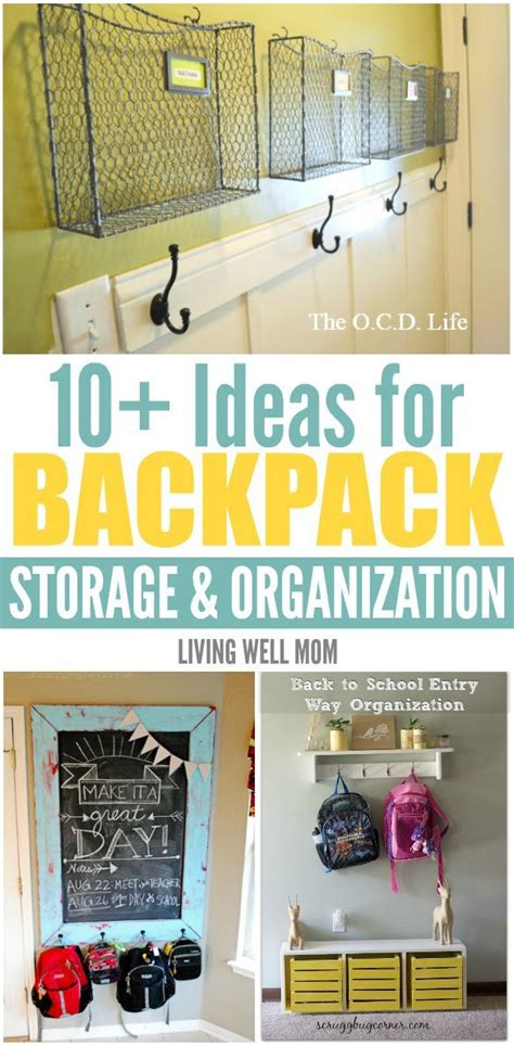 backpack storage solutions 25 best ideas about school bag storage on pinterest