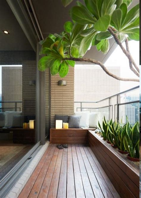 admirable balcony design with wooden floor and modern