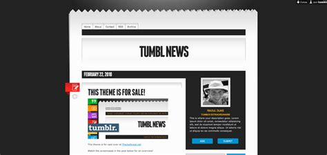 newspaper theme sidebar custom tumblr themes