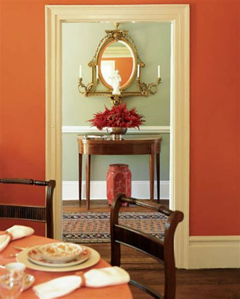 burnt orange dining room for our dining room burnt orange w green gold accents wood new