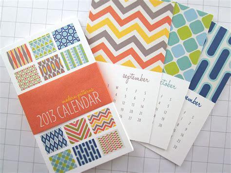 calendar design pattern monkey mind design 2013 modern patterns series ii mini