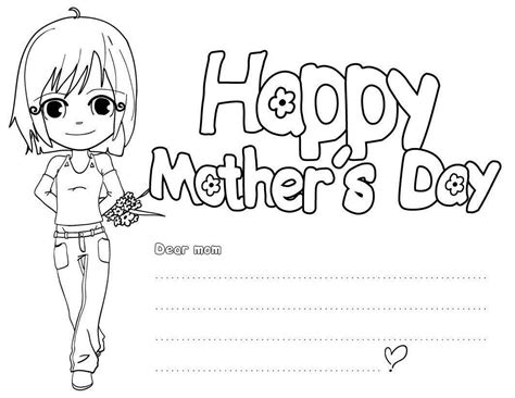 hard coloring pages for mother s day happy mothers day coloring pages free large images