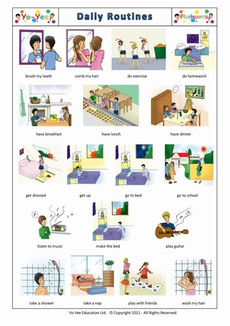 libro kids french first steps daily routines flashcards in french for kids la routine