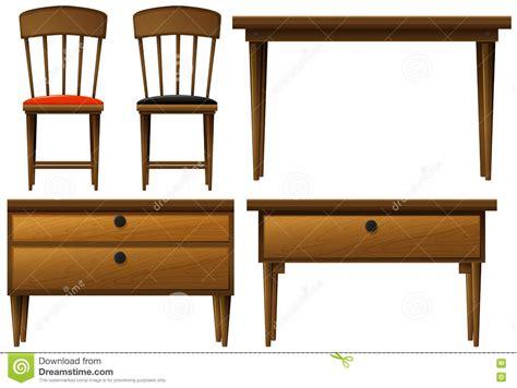 tipos de muebles de madera muchos tipos de muebles de madera ilustraci 243 n del vector