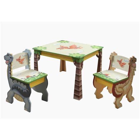 Dinosaur Table by Dinosaur Kingdom Table Set Of 2 Chairs