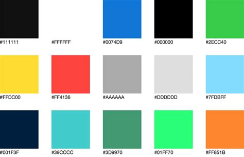 color css 28 images css color chart 7 free sles exles