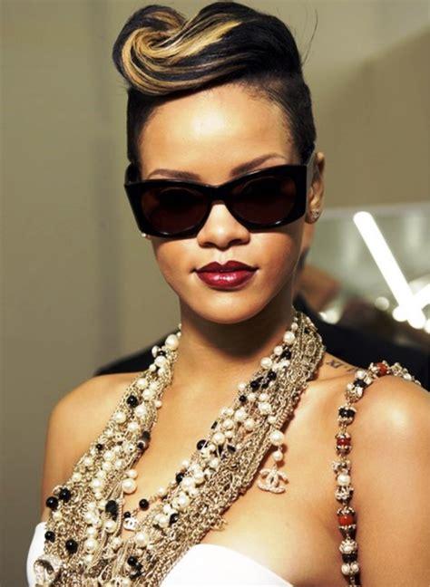 Rihanna Updo Hairstyles by Rihanna Pompadour Updo Hairstyle Behairstyles