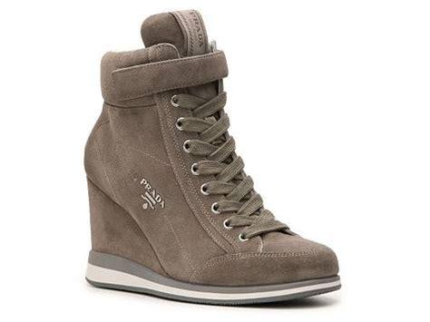 wedge sneakers dsw prada suede wedge sneaker dsw