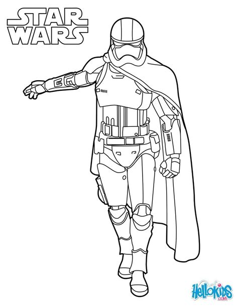 Captain Phasma Coloring Sheet From The New Star Wars Movie Wars 7 Coloring Pages