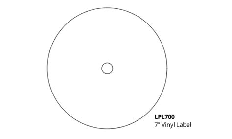 Vinyl Templates 7 Inch Vinyl Record Label Template