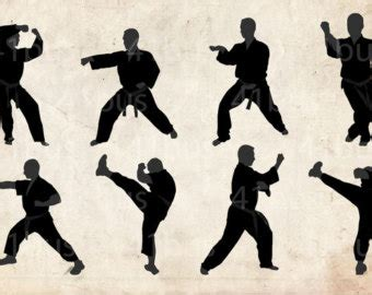 karate pants kids silhouette clipart clipground