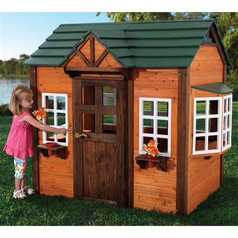 backyard play houses kidkraft my woodland playhouse 155 outdoor playhouses at hayneedle
