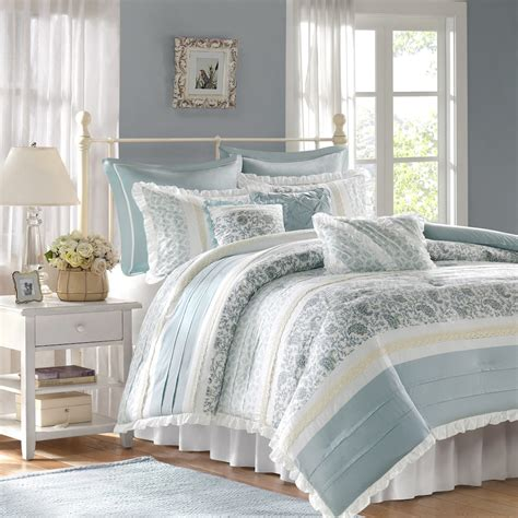 madison park comforter sets new madison park vanessa 9 pc comforter queen set in blue