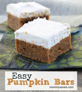 easy pumpkin bars a fall favorite mommysavers