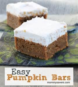 easy pumpkin bars a fall favorite mommysavers