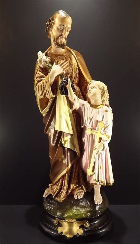 where to buy st joseph statue to sell house st joseph jesus antique french polychrome plaster religious catholic statue ebay