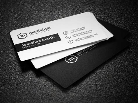 2 in 1 black and white business card by nazdrag on deviantart