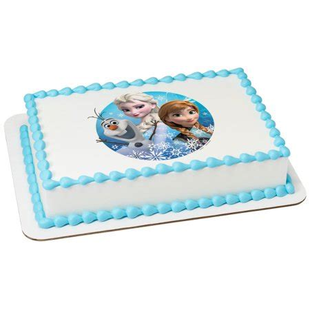 frozen olaf elsa anna   sheet image cake topper edible birthday party walmartcom