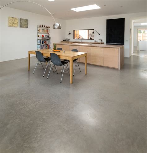 light polished concrete floor chiswick lazenby