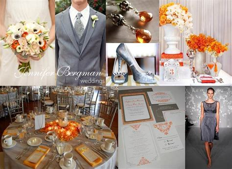 charcoal grey and orange wedding this grey and orange wedding inspiration board is fresh and