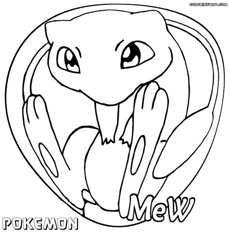 pokemon coloring pages of mew mew pokemon coloring pages images pokemon images