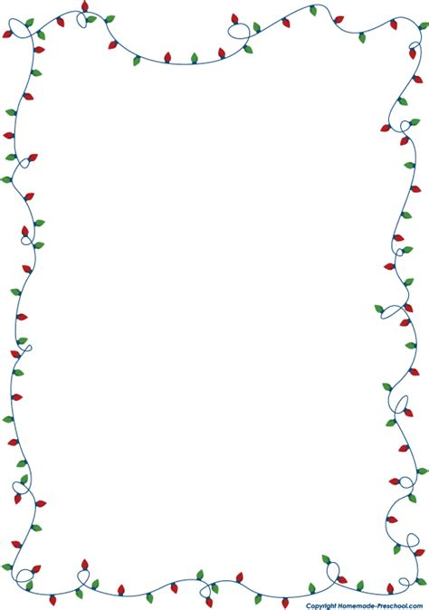 christmas lights transparent borders happy holidays