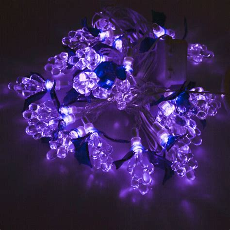 2 8m Length Of 20 Lilac Indoor And Outdoor Led Grape Fairy Lilac Lights