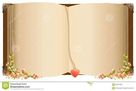 libro i fiori vecchio libro aperto con il segnalibro nella forma