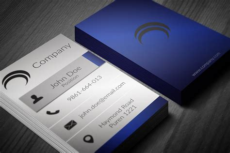 blue business card template psd 60 only the best free business cards 2015 free psd