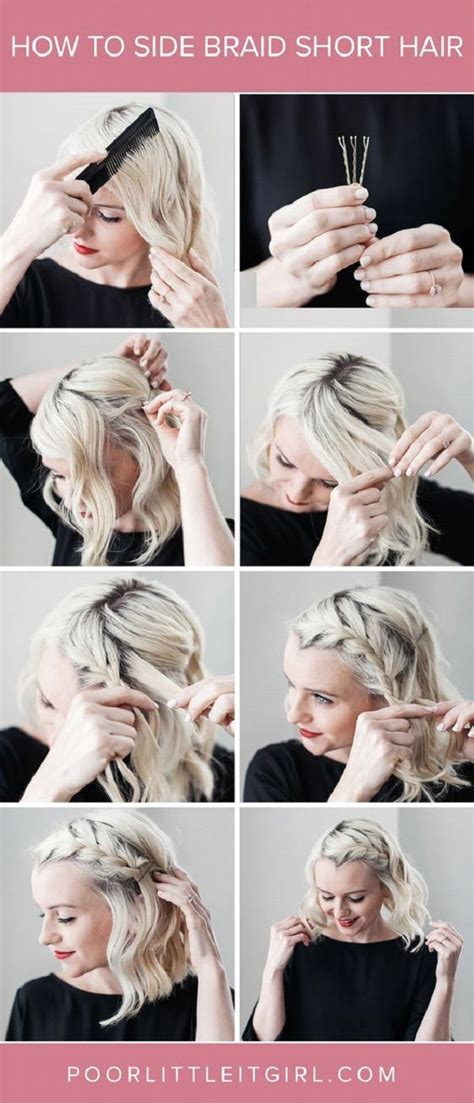 step by step directions for styling short hair best 25 braided short hair ideas on pinterest braids