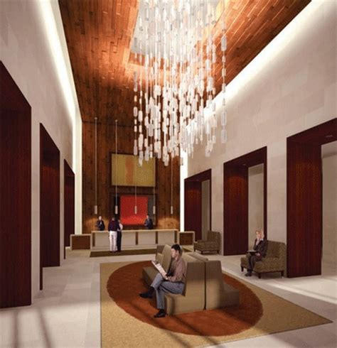 interior design for home lobby modern hotel lobby interior design with hanging l