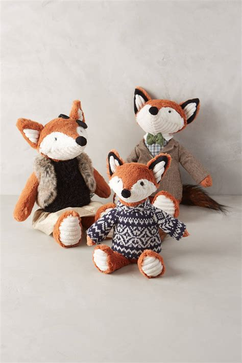 Handmade Animals - fox family stuffed animal anthropologie