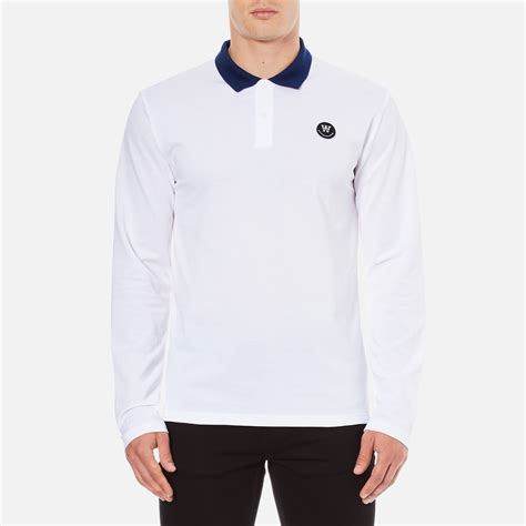 wood wood s george sleeve polo shirt bright
