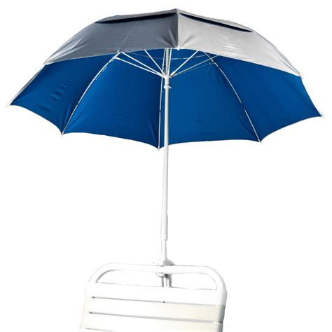 Solar Clamp On Chair Umbrella   Pacific Blue Beach Umbrella