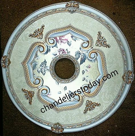 Ceiling Chandelier Medallion Ceiling Medallion 43 Quot For Swarovski