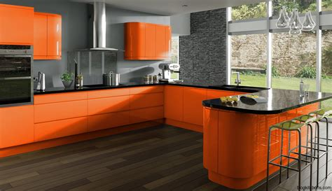 L Kitchen Designs by Modern Orange Kitchens Kitchen Design Ideas Blog Idolza