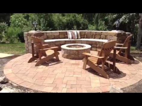 Backyard Paver Patio New Backyard Patio With Pergola And Cozy Firepit By A