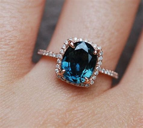Blue Sapphire 2 9ct best 25 sapphire engagement rings ideas on