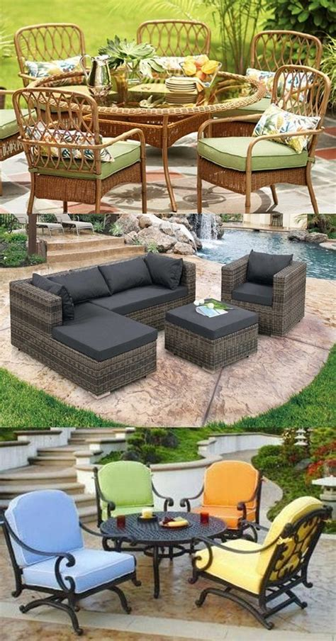 Types Of Patio Furniture Patio Furniture Types And Materials Interior Design