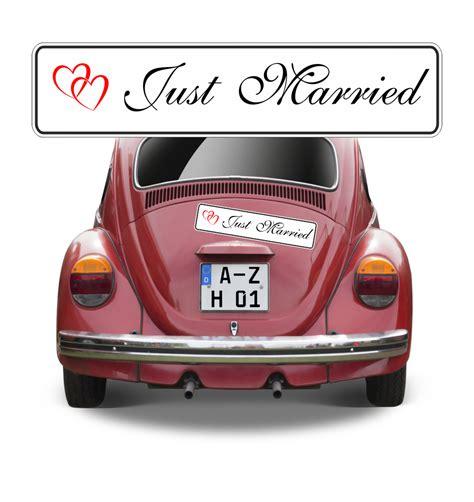 Magnetschild Auto by Top Qualit 228 Ts Magnetschild Hochzeit Just Married Mit Herzen