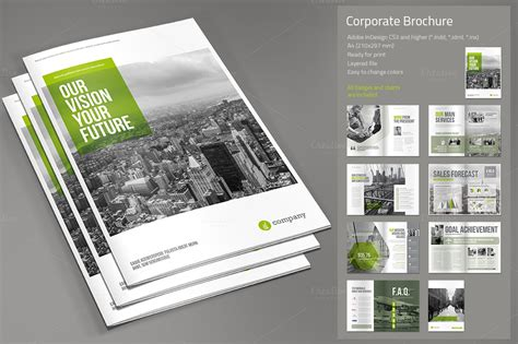 Corporate Brochure Template Free corporate brochure brochure templates on creative market