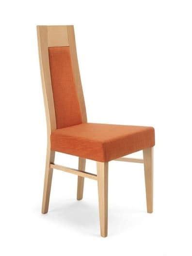 sedie con schienale alto sedia in legno con schienale alto imbottita per cucina