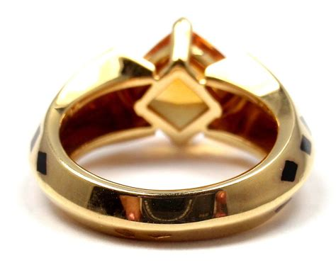 How To Spot A Cartier Ring by Cartier Panthere Black Lacquer Spot Citrine Gold